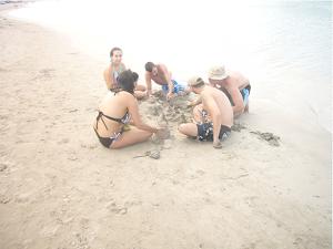 En la playa del Cabo de la Vela -Guajira - Colombia